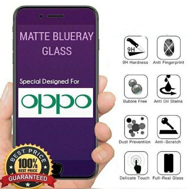READY STOCK ~ OPPO RENO 6 4 RENO 10x Zoom 6 6 MATTE BLUERAY FULL COVERAGE  TEMPERED GLASS SCREEN PROTECTOR