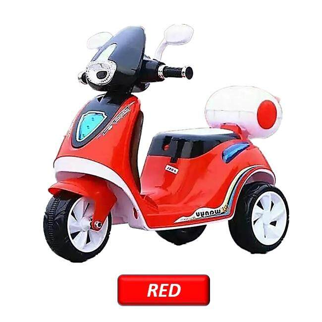 Kids Rechargeable Battery Electric Scooter Vespa Bike By Toys & Tots.