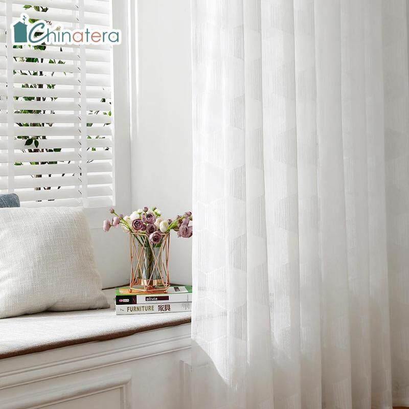 Rèm Cửa Sổ Vải Tuyn Chinatera, Màu Trơn, Hiện Đại, Phong Cách Bắc Âu, Trang Trí Phòng Khách, Phòng Ngủ, Nhà Bếp