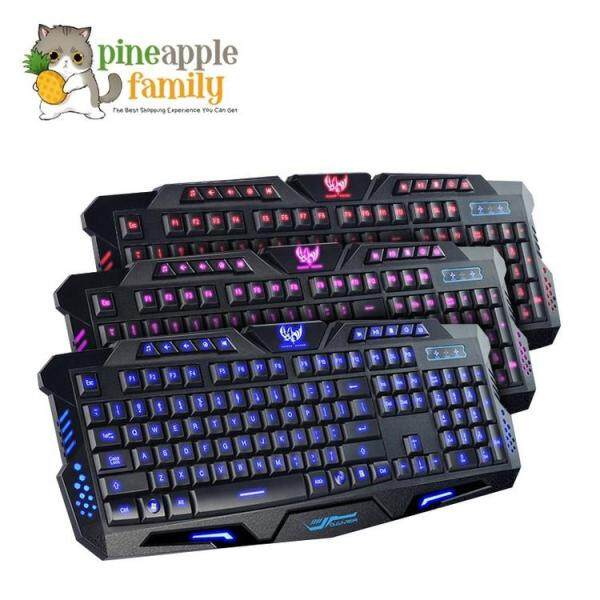 M200 Three Color LED Backlight USB Wired Gaming Keyboard Malaysia