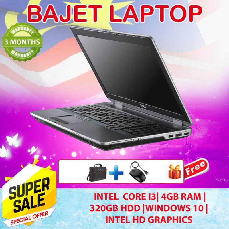 DELL 6430 - 4GB 320GB 3 Months Warranty - Free Bag + Mouse - Factory Refurbished Student Bajet Laptop -- Intel HD Graphics 4000 Malaysia