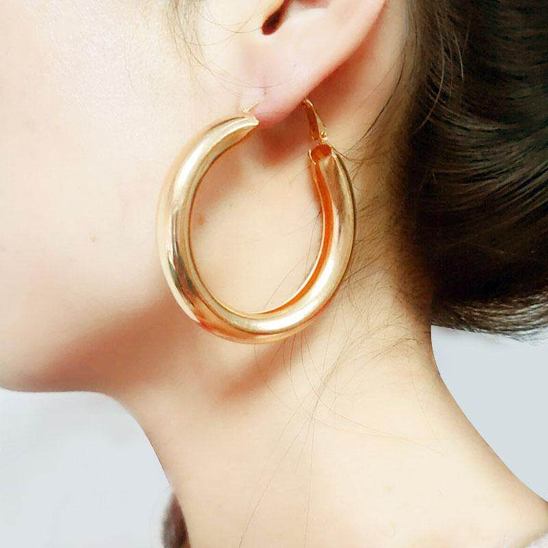 1 Pair Big Circle Statement Earrings For Women Fashion Gold Silver Drop Earrings By Rytain.