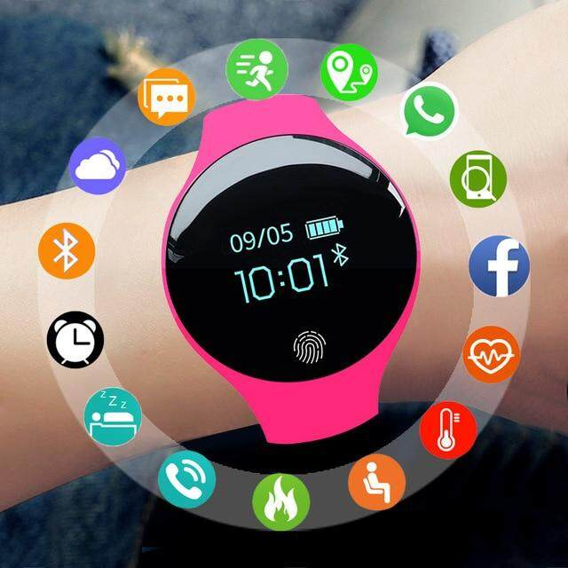 2019 New Fashion LED Digital Wrist Watch Outdoor Sports Waterproof WristWatches Smart Sport Watch Female Hour Smartwatch Malaysia