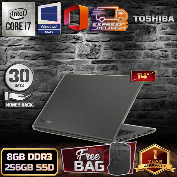 TOSHIBA TECRA Z40 ULTRABOOK [ INTEL CORE I7 / 8GB DDR3 RAM/ 256GB SSD STORAGE / WINDOW 10 PRO / 1 YEARS WARRANTY / LAPTOP ] FREE BAG PACK + 30 DAYS MONEY BACK GUARANTEE Malaysia