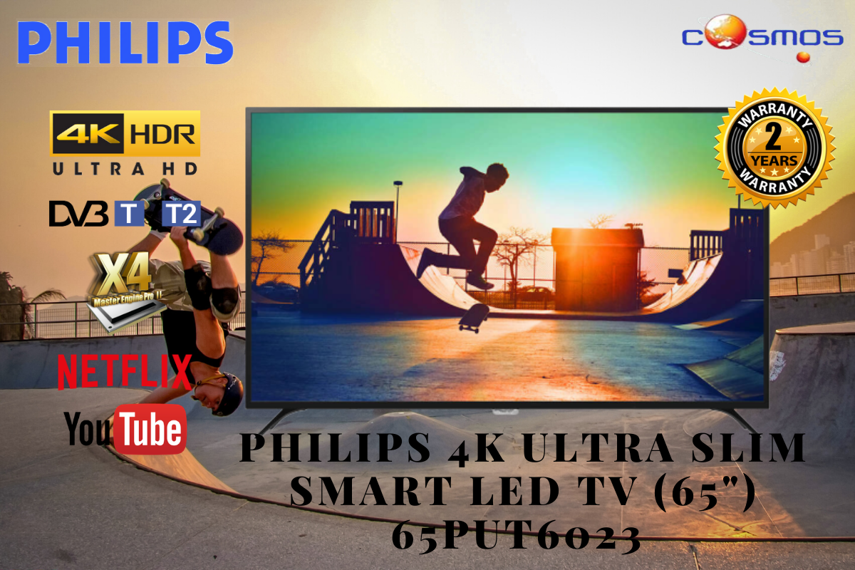 Philips 4K Ultra Slim Smart LED TV (65 ) 65PUT6023/98 with on site Warranty