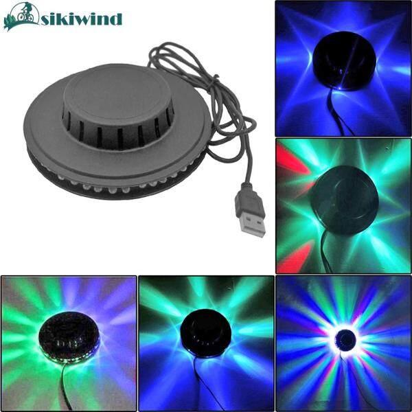 【Sikiwind】 5W USB RGB Âm Thanh Kích Hoạt Disco Xoay Ánh Sáng Quả Cầu Led Sân Khấu Bữa Tiệc Đèn Nhấp Nháy KTV Thanh Hiển Thị Trang Trí Nội Thất