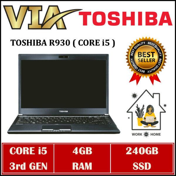 【ONLINE CLASS】LIGHTWEIGHT TOSHIBA R930~CORE i5-3rd Gen~4GB RAM~120GB / 240GB SSD~WIN 10 Malaysia