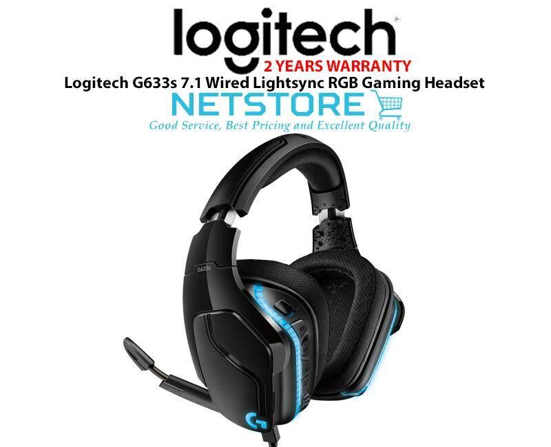 LOGITECH G633s 7 1 Surround Sound Wired Lightsync RGB Gaming Headset