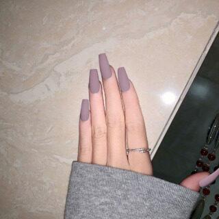 Bộ 24 cái móng tay giả sơn lì dùng để đắp móng - INTL thumbnail