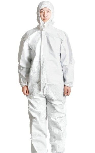 Disposable Jumpsuit / Protective Coverall, Microporous 63gsm PP+PE non-woven, with hood and without boot (1pc/pack)