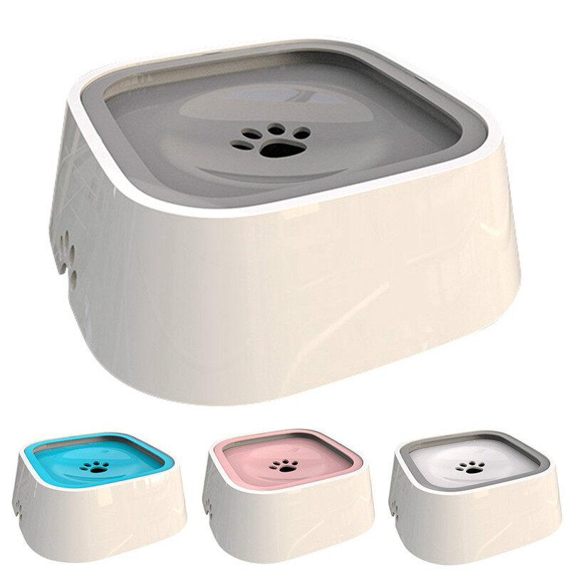 Chó Xám Uống Bát Uống Nước 1.5L Nổi Không Ướt Miệng Bát Cho Mèo Mà Không Tràn Máy Nước Uống Nhựa ABS Bát Cho Chó Môi Trường Dùng Cho Thực Phẩm