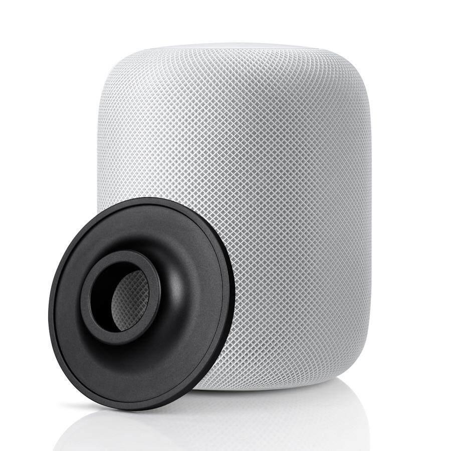 Supermall Chân Đế Inox cho Apple HomePod Loa Thông Minh Chống Trơn Trượt Đế Kim Loại Miếng Lót Giá Đỡ cho Apple Phụ Kiện Loa