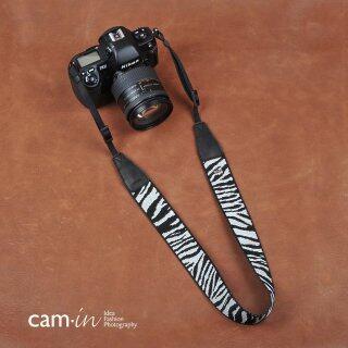 Dây Đeo Máy Ảnh Chống Vi Hình Ngựa Vằn Màu Đen Và Trắng CAM Vải Cotton Dây Đeo Máy Ảnh SONY Canon Nikon AGlet Cam8263 thumbnail
