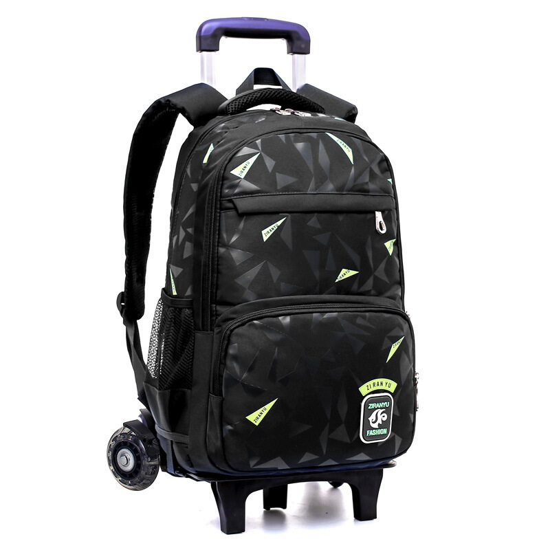 Middle school students drawbar bag six wheels of climbing stairs 3-6 grade boys 8-12 years old primary school backpack