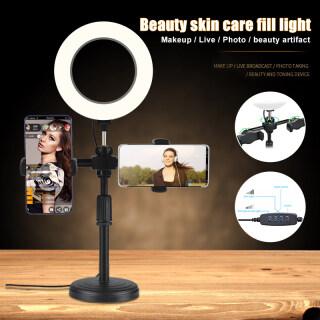 Đèn LED Tròn Có Chân Đế Và Giá Đỡ Điện Thoại Chụp Ảnh Tự Sướng Trang Điểm Phát Trực Tiếp Tương Thích Với Điện Thoại Máy Ảnh thumbnail