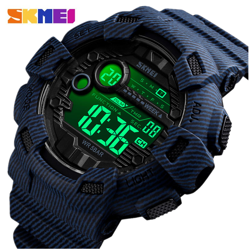 (100% authentic) SKMEI Brand Mens Sports Watch 50m Waterproof Backlit LED Digital Watch Chronograph Vibration Dual Watch, Outdoor Sports, Riding Tools, Mens Watch, COD Payment Malaysia