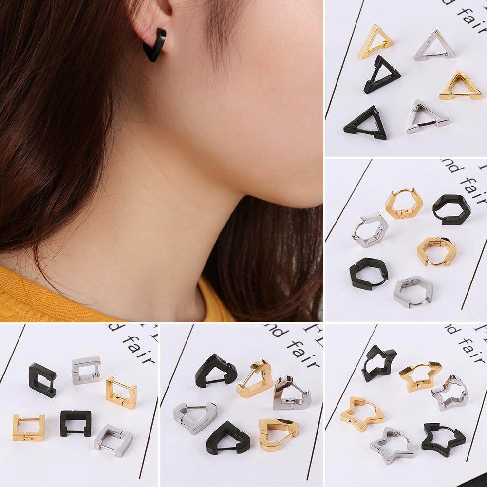 Fashion Star Heart Polygon Stainless Steel Jewelry Ear Cuffs Ear