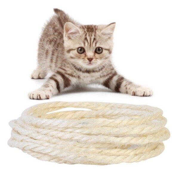 Minine 5M Dây Thừng Xi Đan Cho Mèo Cào Bài Đồ Chơi Tự Làm Bảng Cào Móng Cho Mèo Cho Mèo Để Tập Thể Dục Móng Vuốt
