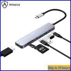 [Hub Amorus] Bộ Chuyển Đổi HUB W65331 Type-C 7 Trong 1 Đa Chức Năng HUB Expander PD Giao Diện Sạc + Cổng Đầu Ra HDMI + Type-C + 2 USB 3.0 + Khe Cắm Thẻ SD + khe Cắm Thẻ TF