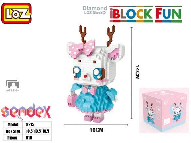 LOZ IBlock Fun 9215 - Deer Animal Girl Cartoon 910pcs