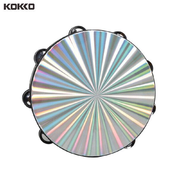 KOKKO Dt-63 Tambourine Hai Hàng Màu Đen + Bề Mặt Laser Tay Tambourine Kích Thước: 10 Inch