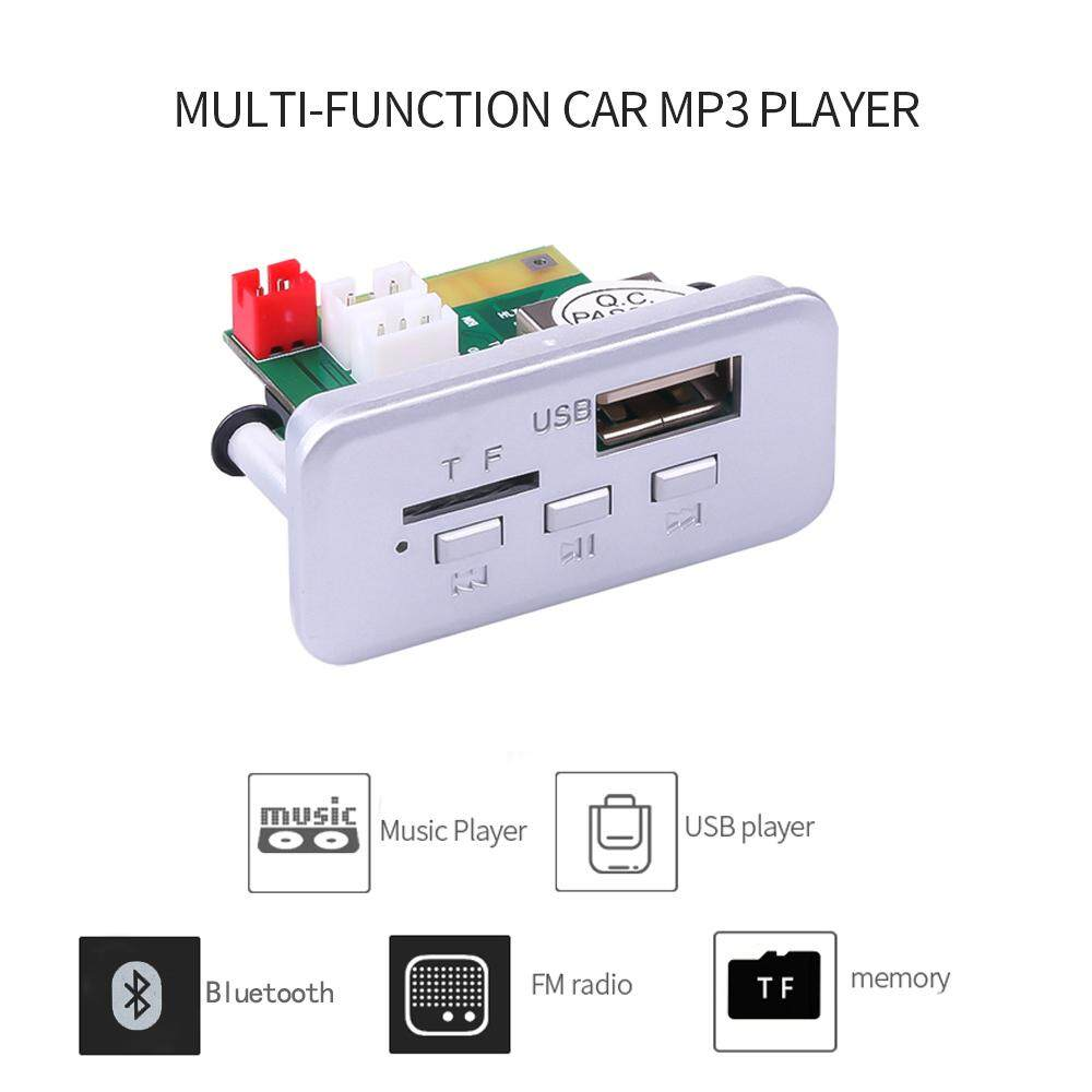 12V Wireless Bluetooth 5.0 MP3 Decoder Board MP3 Player Radio USB TF FM Receiver for Accessories