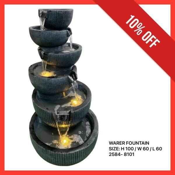 FIBER WATER FOUNTAIN HOME DECORATION SET FENG SHUI POT (6 TIER)