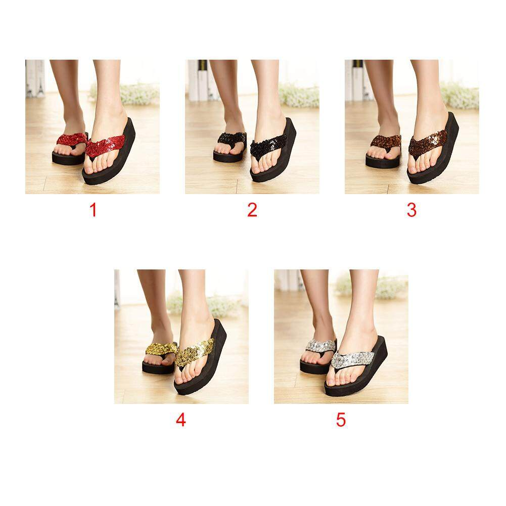 UK Womens Lady Comfy Platform Sandals Slippers Casual Flip Flop Shoes Size 4-7