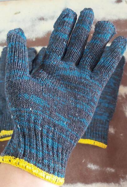 Sarung Tangan Tebal, Knitted Gardening Safety Hand Gloves Cotton Glove