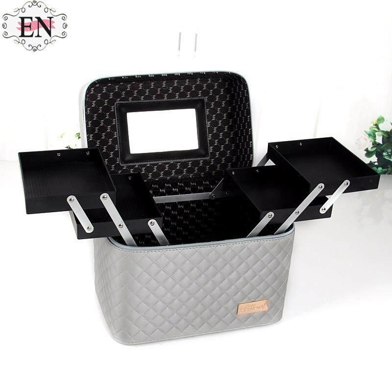 Pengiriman Gratis SGG Kosmetik Kotak Penyimpanan Kosmetik Case Kosmetik Modis Tas Toilet Multi-Lapisan Kotak