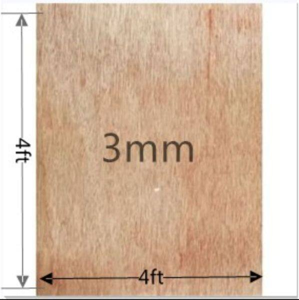 (4ftx4ft) 3mm Plywood