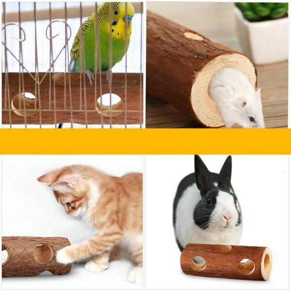1 Mảnh Hamster Đường Hầm Gỗ Ống Chim Gỗ Nền Tảng Gỗ Đặc Thỏ Răng Hàm Đồ Chơi Hình Thú Cưng Đồ Chơi Cây Ống 2020 Y