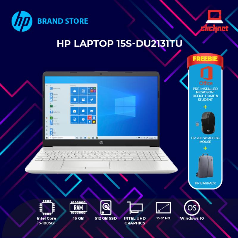 HP 15S-DU2131TU (I3-1005G1, 8GB, 512GB SSD, 15.6 HD, INTEL UHD GRAPHICS, SILVER-W10, H&S) Malaysia