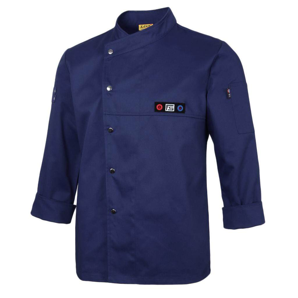 Fenteer Kitchen Chef Jacket Chef Wear Catering Coats Uniform Long Sleeve Workwear