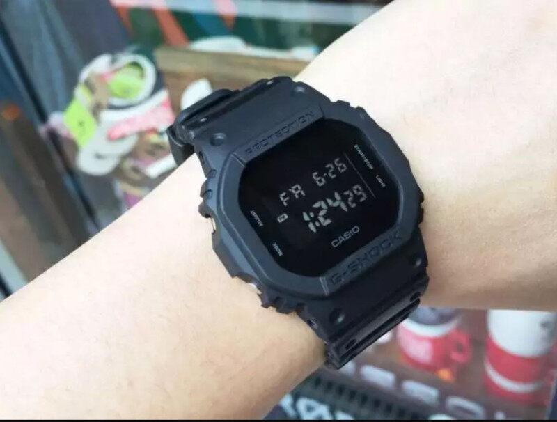 Offer Skali Free Perfume Gift Casio_G_shock_5600 Dark Night Men & Women Watch Malaysia