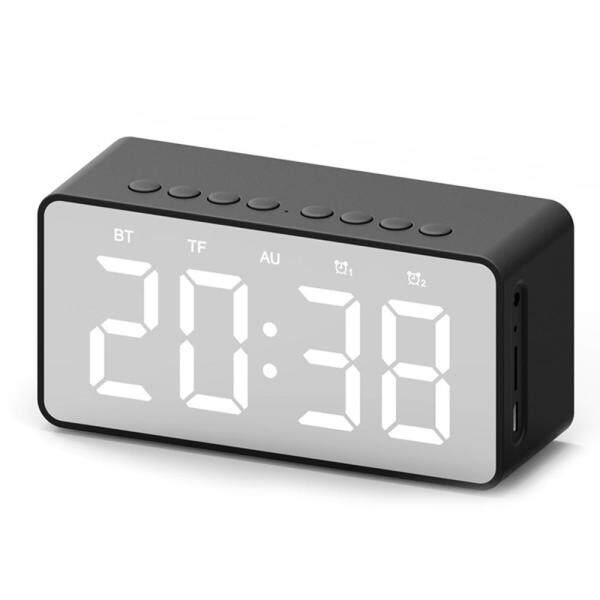 niceEshop FM Clock Alarm Clock Bluetooth Speaker Mini Mirror Bluetooth Speaker Singapore