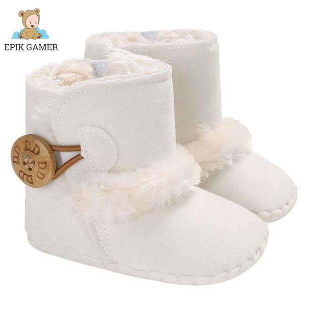 Bốt Đi Tuyết Cho Trẻ Mới Biết Đi Mùa Đông, Giày Giữa Bắp Chân Lông Cừu Ấm Áp Cho Bé Trai Bé Gái Sơ Sinh giá rẻ