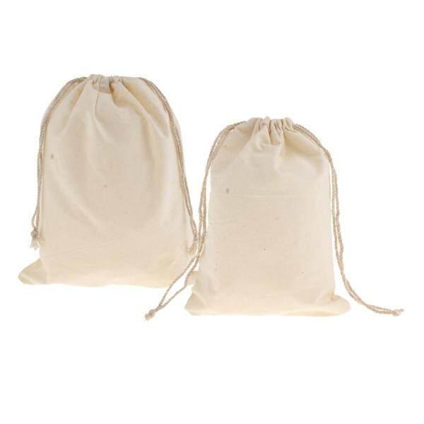 BolehDeals 12pcs Small Cotton Linen Jewelry Pouch Drawstring Gift Bags Wedding Supplies
