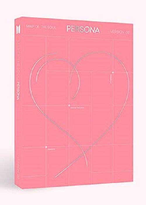 [2 ver] BTS - MAP of The Soul : Persona [Boy with Luv] Album + All pre order benefits + Folded posters + Store gift photocard - kpop