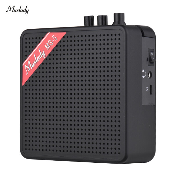 Muslady MS-5 Xách Tay Mini Guitar Amplifier Amp Loa 5 Wát Hỗ Trợ Kết Nối BT Với Memoey Khe Cắm Thẻ Headphone Đầu Ra