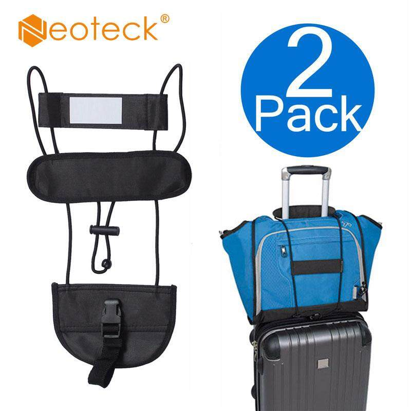 6d4f0fd46b 2x Add A Bag Strap Travel Luggage Suitcase Adjustable Belt Carry On Bungee  Easy Elastic Telescopic