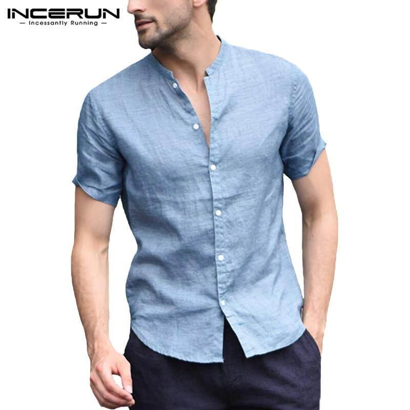 YUNY Men Cotton Oversize Summer Short-Sleeve Leisure Button Down Shirt 10 2XL