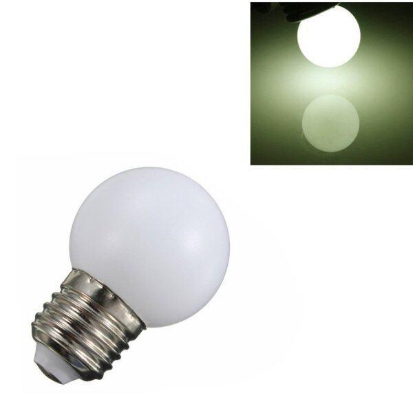 Fityle 220V E27 1W Energy Saving LED Ball Light Bulb Globe Lamp White