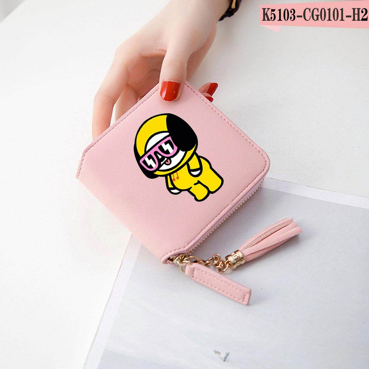 BTS Accessories Women Wallets Zipper Card Girl Kpop Wallets Purses Mini Bags Bangtan Boy Tassel Coin Pocket