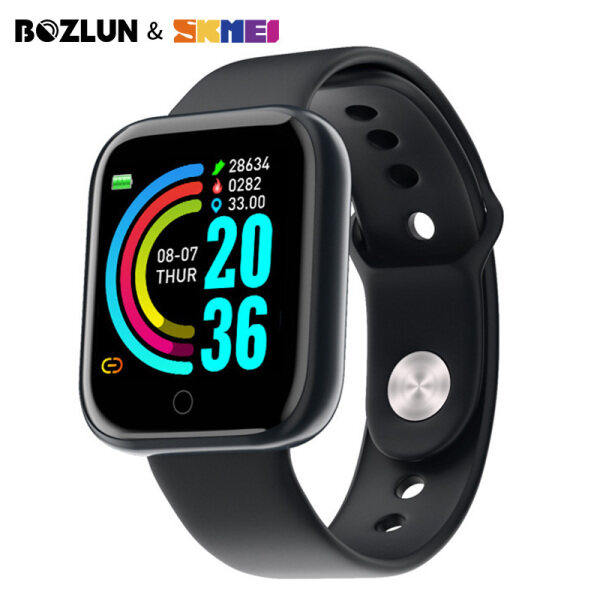 SKMEI BOZLUN Smart Watch For Women Men Bracelet Sport Fitness Tracker Pedometer Heart Rate Blood Pressure Bluetooth Smartband IOS Android F200801 Y68 Malaysia
