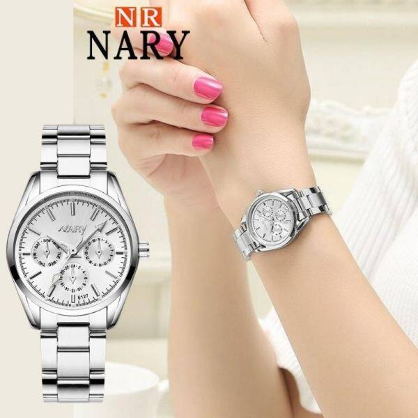 Bormelun NARY Fashion Luminous Watch For Women Retro Stainless Steel Strap Quartz Watches Ladies Casual Business Wristwatches 128 Malaysia