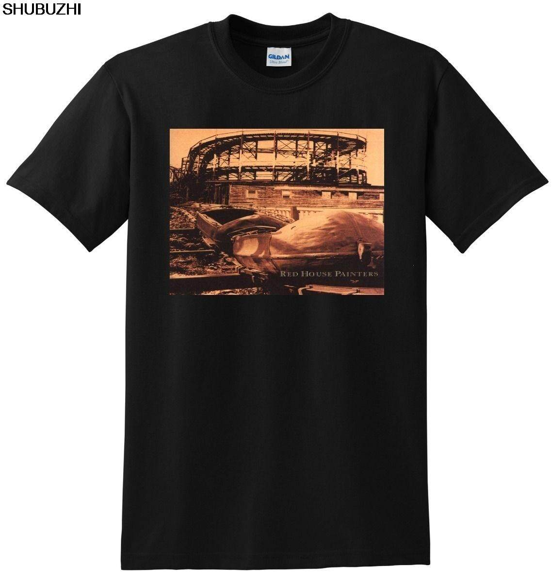 91713e23f AAAAA RED HOUSE PAINTERS T SHIRT rollercoaster vinyl cd cover SMALL MEDIUM  LARGE or XL
