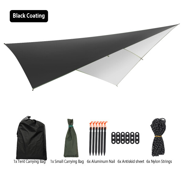 9.5FT Waterproof Lightweight Camping Tent Tarp Shelter Hammock Rain Fly Cover