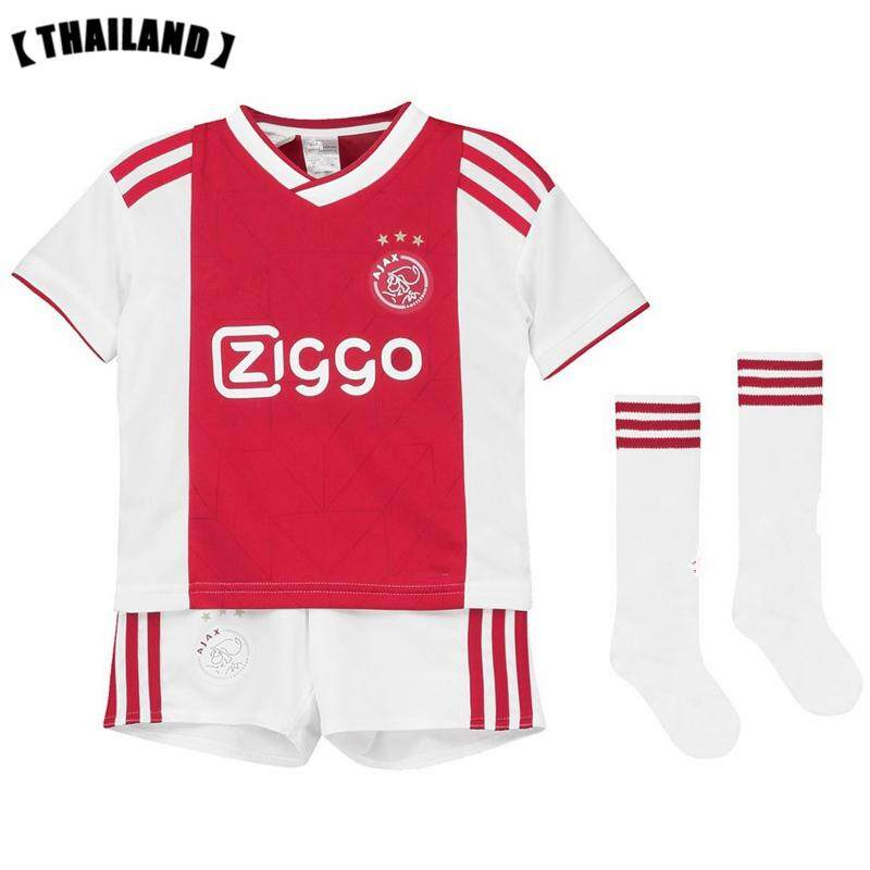3c487255a (3-18years) 2019 New Season Ajax Home and Away Football Jersey Top Quality