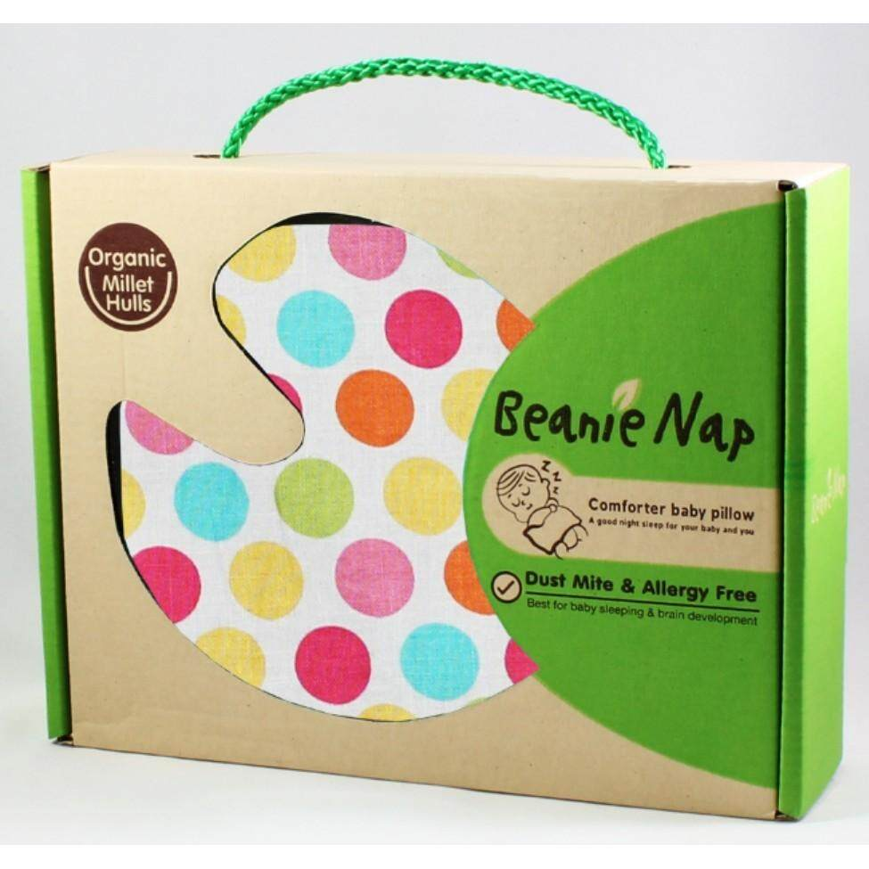 Beanie Nap Comforter Baby Pillow (diddy Dot) By Happikiddo.